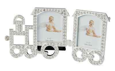 New Diamonte Photo Frame Train And Carriage 2*3' Baby Gift