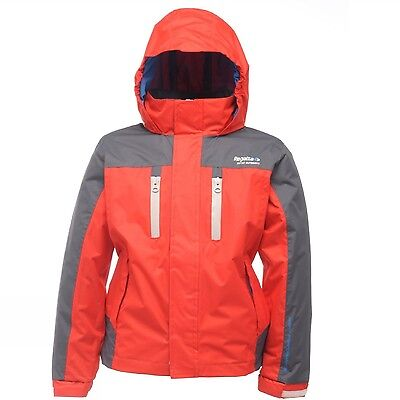 Regatta Captive Boys Hooded Waterproof Breathable Lined Jacket
