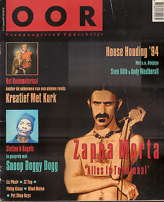MAGAZINE OOR 1994 nr. 01 - FRANK ZAPPA (COVER)/ZZ TOP/BLIND MELON/HOUSE IN 1994