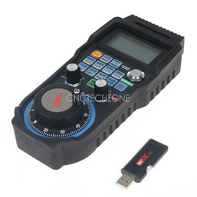 CNC 4 Axis Wireless Mach3 MPG Pendant Handwheel Controller for CNC Machine lathe