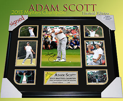 Sale!! Adam Scott Signed Golf Memorabilia Framed Limited Edition 500 Only Col