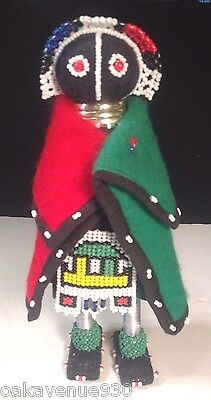 Ndebele Beaded Doll with Blanket South African New