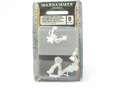 Warhammer Chaos Noise Space Marine Sonic Blaster C 43-56 New MOSC Metal 40k