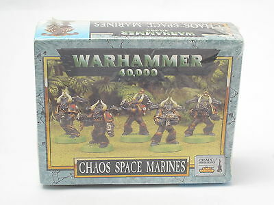 Warhammer Chaos Space Marines Squad x 5 citadel New Sealed Plastic 40k V2