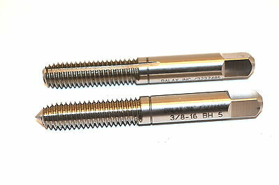 """2 NOS BALAX INC USA 3/8"""" - 16 BH 5 Roll FORM TAPS Pointed & Flat Ends  MBB2A2"""
