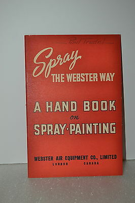 SPRAY THE WEBSTER WAY A HAND BOOK ON SPRAY-PAINTING CATALOG (JRW #062) Air Tools