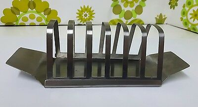Vintage 'Empire Top Stainless' Stainless Steel Toast Rack (b12)