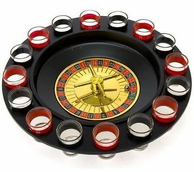 Casino Party Roulette Drinking Game Stag Wedding Spin N Shot Adult 16 Shot