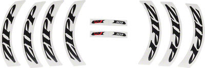 NEW Zipp Decal Set 404 Matte Black Logo Complete for One Wheel 7 Decals Included