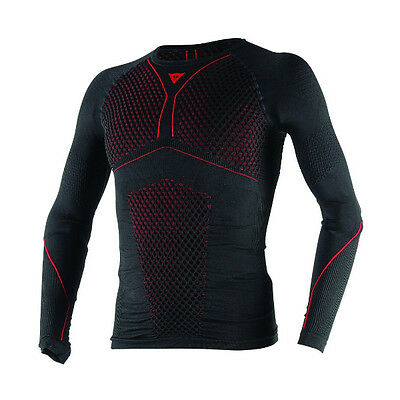 Dainese D-Core Thermo Long Sleeved T-Shirt Motorcycle Motorbike Base Layer Red