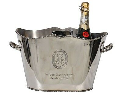 "Wine/Champagne Ice Bucket~Silver Plated~Wine Cooler~bar equipment~catering 16""s"