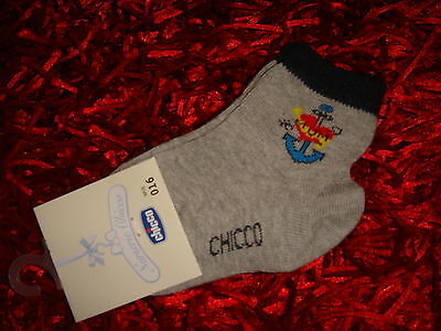 CHICCO - CHAUSSETTES GRISE et BLEUE (Collection NURSERIE CHICCO)