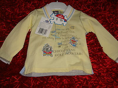CHICCO - POLO JAUNE A MOTIF (Collection PIRATE)