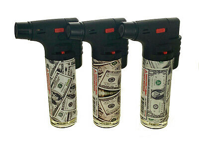 4 Pack Jet Torch Gun Lighter Adjustable Flame Windproof Butane Refillable