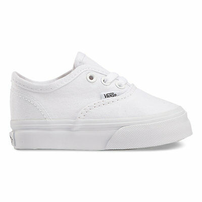 VANS Toddlers Authentic Canvas True White  VN-0ED9WOO All Sizes 4-10 Free Ship