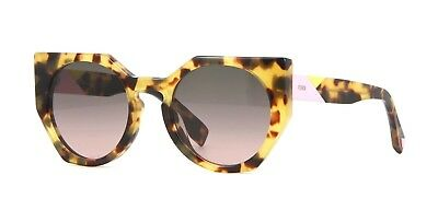 804c1ec97134 FENDI FACETS FF 0160 00F Tortoise Plastic Cat-Eye Eyeglasses 50mm ...