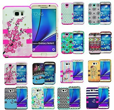 Shockproof Hybrid Rugged Rubber Hard Case Cover For Samsung Galaxy Note 5 4 3 S7
