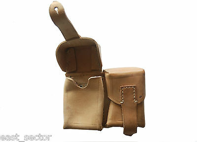 Vintage Leather Ammo Pouch Cartridge Magazine Mauser Mosin Army Military Surplus