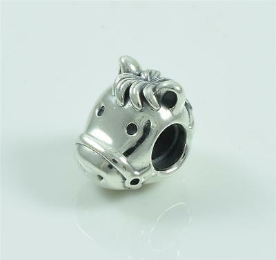 Authentic Genuine Pandora Sterling Silver Happy Horse Charm Bead 791746