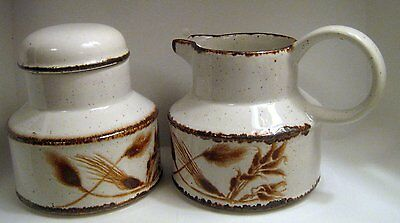 Stonehedge Midwinter Wild Oats Creamer and Sugar Jar