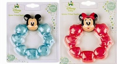 Baby Teether Water Filled Ring Soother Minnie Mickey Mouse