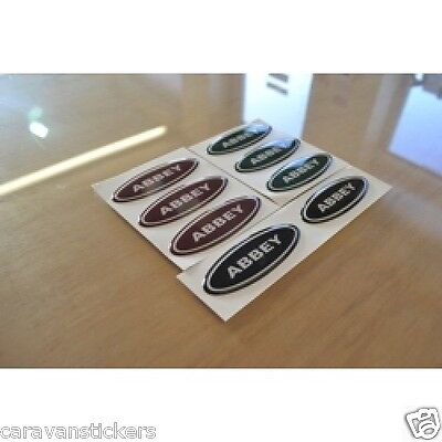 ABBEY Caravan - (RESIN DOMED) - Interior Stickers Decals Graphics - SET OF 4