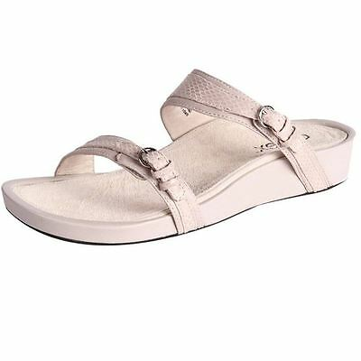 New Aetrex Women's Leather Orthotic-Friendly Comfort Slide Sandal Amelie Cheap