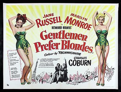 GENTLEMEN PREFER BLONDES CineMasterpiece FOX ARCHIVE MOVIE POSTER MARILYN MONROE