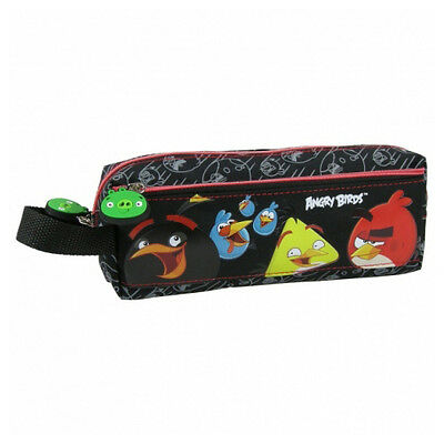 Angry Birds Pencil Pouch Case School Boys Black