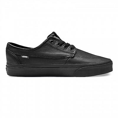 Vans Shoes Brigata Italian Leather Black / Black School Shoes Us Size Aus Size