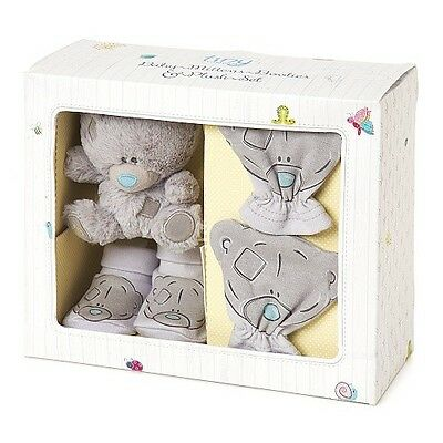 Me to You- Tiny Tatty Teddy Bear- Baby Mittens, Booties/ Socks & Plush Gift Set