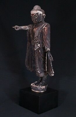 19th Century Antique standing Mandalay Buddha statue | Antique Buddha Statues