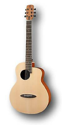 Anuenue Acoustic Electric M1 Newborn Bird Guitar with Cutaway, Gig bag included