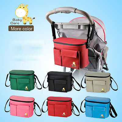 Baby Stroller Pushchair Pram Storage Hanging Holder Bag Thermal Insulation Bag