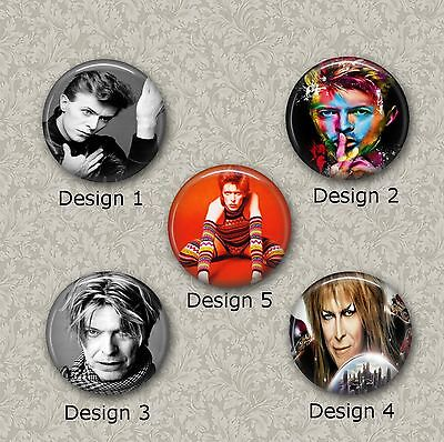 5 x 25mm David Bowie Resin Or Glass Cabochons for Jewellery Making