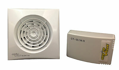 Envirovent SILENT100T-12V Low Voltage Extractor Fan IP57 SELV (with Timer)