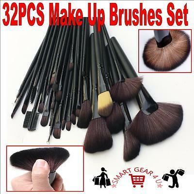 NEW Professional 32PCS Make Up Brush Cosmetic Makeup Brushes + Pouch Black