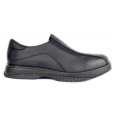 Redback BLACK BARMAN CHEF SHOES WATER OIL REPELLENT LEATHER SHOES ALL SIZES RBBN