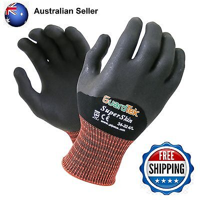 SuperSkin HC Nitrile work Glove - gardening renovating landscaping arthritis