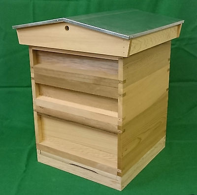 National Beehive with Gable Roof Bee Hive - ASSEMBLED