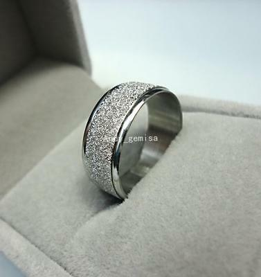 Frosted sliver color Stainless steel Ring jewelry top hotsale Women Men
