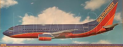 Southwest Airlines SWA Boeing 737 B737 Spirit One livery poster Herb Kelleher