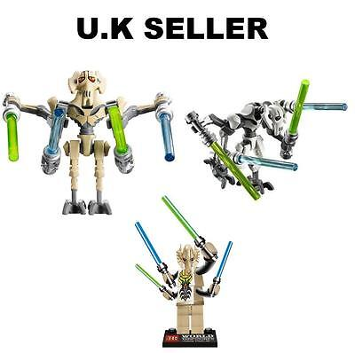 General Grievous Minifigure Star Wars Mini Figure Fits Lego
