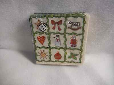 Mesafina Garland Stamps/with Ornaments  20 Paper Cocktail Napkins-New