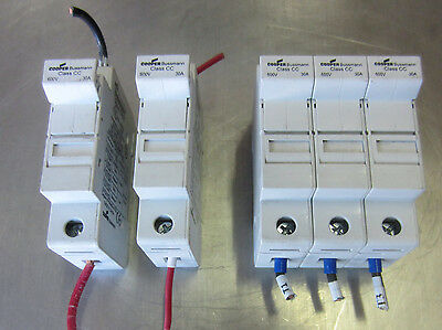 Cooper Bussmann Fuse Holder CHCC 30A 30 Amp 600V Used Mixed Lot of 3