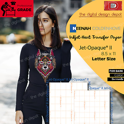 "Inkjet Transfer Paper For Dark Fabric: Neenah ""jet Opaque Ii"" (8.5""x11"") 50 Ct"