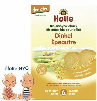 Holle Organic Spelt Baby Rusk Toast  200g NEW FREE SHIPPING