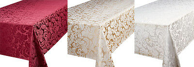 Luxury Jacquard Tablecloth Table Linen Napkins Placemats Table Runner All Sizes