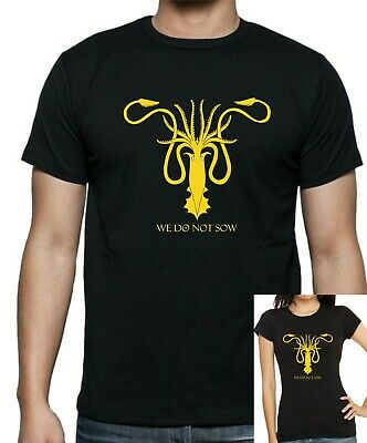 GAME Of THRONES HOUSE GREYJOY We Do Not Sow T-Shirt  FREE UK POSTAGE