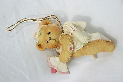 CHERISHED TEDDIES Girl Bear Flying Cupid Ornament